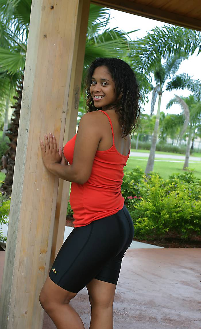 Black ebony women in spandex lycra